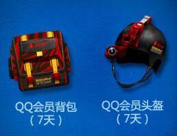 QQ会员背包(7天)+QQ会员头盔(7天)