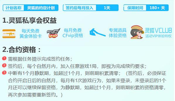 CF新灵狐的约定活动网址