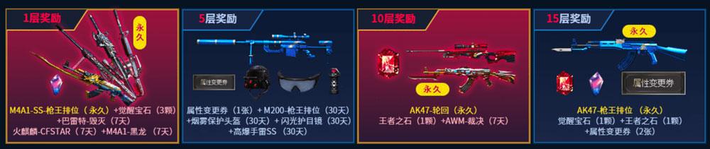 CF枪王排位专属武器